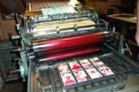 Spielkartendruck im Speicher